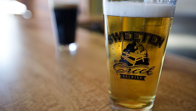 """Sweeten Creek Brewing hopes to debut its """"Sinkhole Sellout"""" IPA on Friday, Aug. 16."""