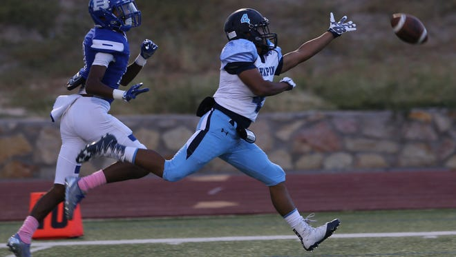 Chapin defender Kevin Licon reached for a a ball intended for the Bowie receiver.
