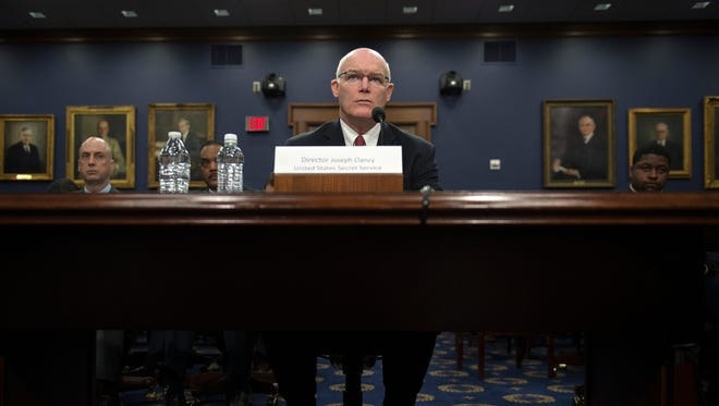 Secret Service Director Joseph Clancy testifies on Capitol Hill on March 17.