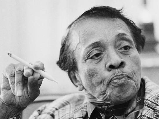 """Comedian Jackie """"Moms"""" Mabley, pictured in 1975, is"""