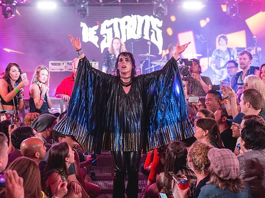 Luke Spiller of The Struts takes the stage at the Bud Light Factory during the Interscope Showcase on March 17, 2016 in Austin, Texas.
