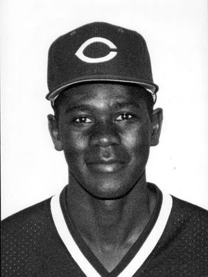 """A 1992 photo of Reds minor-leaguer Darrell """"Doc"""" Rodgers."""