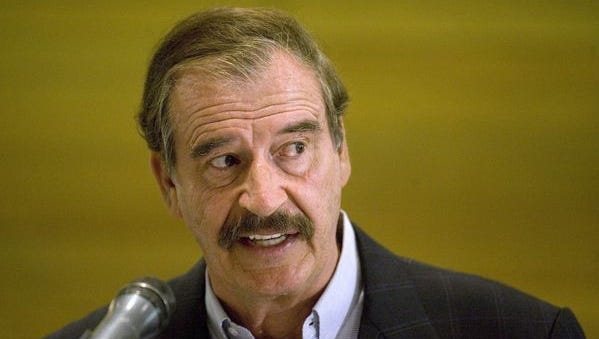 MEXICO CITY — Former Mexican President Vicente Fox, who made history by ousting the long-ruling Institutional Revolutionary Party, or PRI, has angered members of his own party by offering a near-endorsement of the PRI's candidate for president.