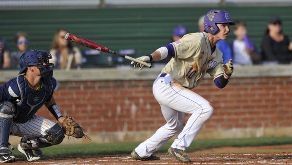 Erwin graduate Garrett Brown is a senior for the Western Carolina University baseball team.