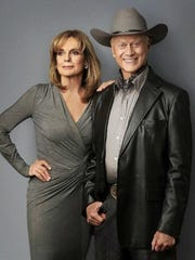 Linda Gray and Larry Hagman