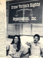 """Son of Sam"" shooting victims Judy Placido and Robert Violante begin work June 19, 1978 at the Crime Victim's Rights Organization in New York. Placido was shot in the head, neck and arm  in June 1977, the night she graduated high school. Violante was blinded in one eye in the last of the .44 Caliber Killer's shooting spree in July, 1977. ( AP Photo )"