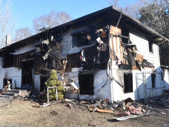 Fire Thursday morning destroyed this home at 9233 E. Mathew Drive, Lincoln, Delaware and claimed the life of a young child.