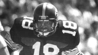 Dennis Mosley provided Iowa's big highlight against Iowa State in 1977 with a 77-yard score on a sweep play.
