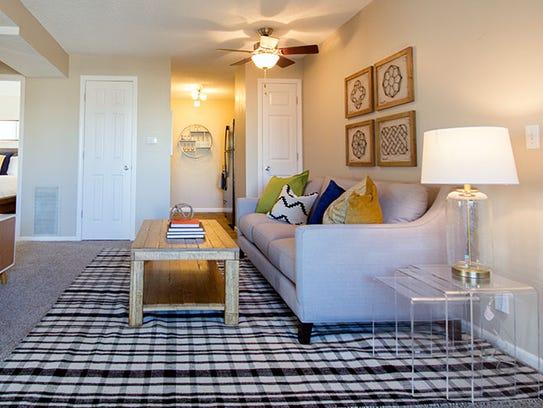 A living room at Ashbrooke, 415 NE Delaware Ave., in