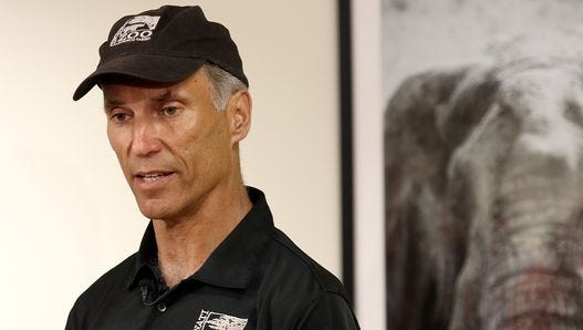 Thane Maynard, director of the Cincinnati Zoo & Botanical Garden, speaks with the media Monday, May 30, 2016, about Harambe, the gorilla shot and killed Saturday after a 4-year-old boy fell into a shallow moat surrounding the Cincinnati Zoo's gorilla exhibit.