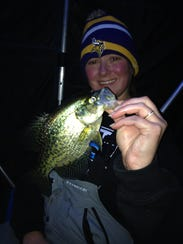 Guide Jarrid Houston enjoyed good panfish fishing through