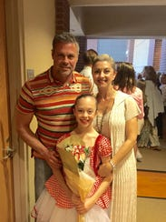Troy Gentry, Kaylee Gentry and Angie Gentry attend