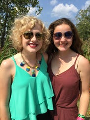 The 2015 Superstar winner, Carly Bins (left) with Alison