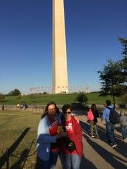 Julie Menke, left, and Sharon Truax in Washington,