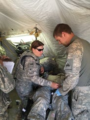 Soldiers from Charlie Company, 47th Brigade Support