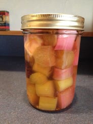 Rhubarb pickles have an extra-tart flavor and a lovely