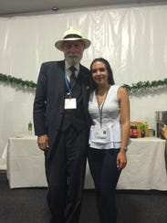 Patricia Martin and Vinton Cerf, the vice president