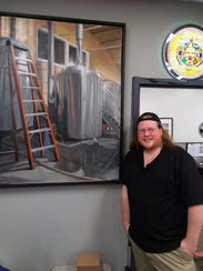 Justin McIntosh has painted artwork for Sun King Brewing.