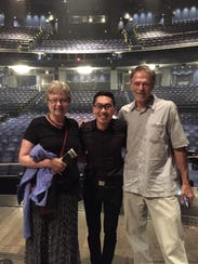 Ted Arthur's parents came to see his debut Broadway