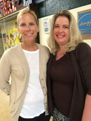 P.D. Graham Principal Jennifer Curry (left) and fourth-grade
