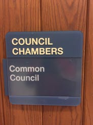 Sign on the door to the Council Chambers at Wauwatosa