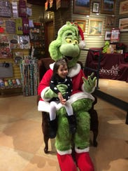 The Grinch visits Phoenix Books in Chester, Rutland