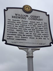 A historical marker at the site of the former Nashville