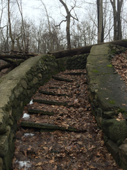 A view of an abandoned staircase on the Milwaukee County
