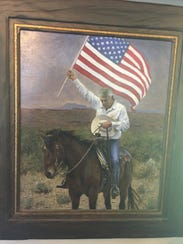 An oil painting of Cliven Bundy by artist Jon McNaughton