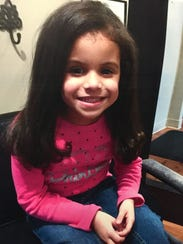 This photo of 4-year-old Madyson Marshel was taken