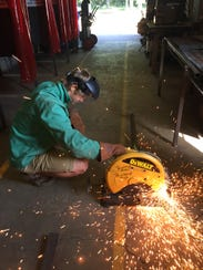 Buckeye High School student Andrew Richardson at work