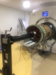 The PET imager pulled out Nemours' new PET/MR scanner