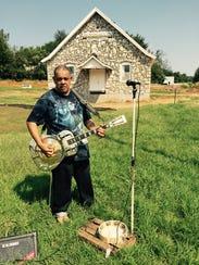 Local musician King Clarentz Brewer performed a set