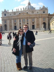 Molly and Brad Moody at St. Peter's Basilica.