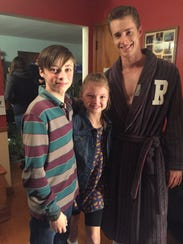 """Shae Smolik with her TV brothers on set for """"Play by"""