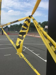 The city closed a basketball court at Pagliughi Park