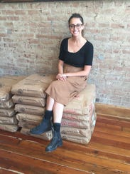 Blair Fornshell in her bakery, Brown Bear Bakery at