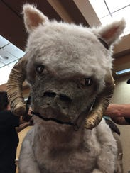The tauntaun's face was the most challenging to make,