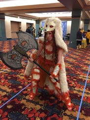 Carly Monsen, of Boston, made an armored Ninetails