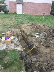 MetroNet was digging a trench in the Windermere subdivision