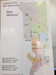 This map, created by planning commissioner Stan Barnes,