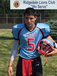 Ridgedale senior quarterback Branden Jaggers