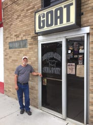Gary Martin stands outside of his tavern The Bloated