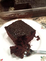 Wacky cake is moist, rich and chocolaty. Frosting is