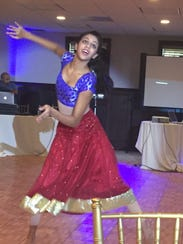 Alicia Kamran performing a Bollywood dance at her Sept.