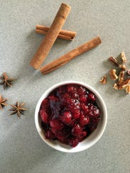 Chef Dave Swanson's cranberry sauce is made with red