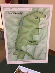 A map at Monday's meeting shows the outline of the