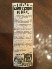Denise Mahon clipped out a newspaper advertisement
