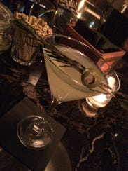 The Dirty Grinch Martini at Rye Restaurant in downtown