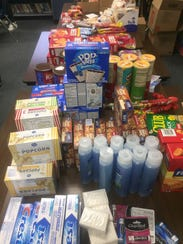 Some of the items requested by troops and secured by